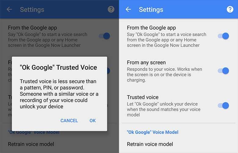 Новые методы разблокировки смартфонов с Android по голосу