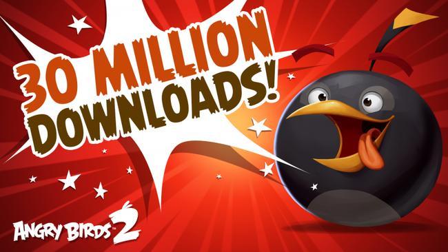 Angry Birds 2: 30 миллионов загрузок за 2 недели