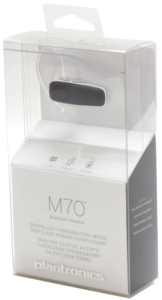 Bluetooth-гарнитура Plantronics M70: активный помощник мобильной связи