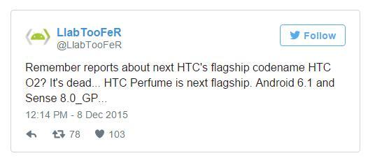 HTC готовит смартфон Perfume с Android 6.1 и Sense 8.0
