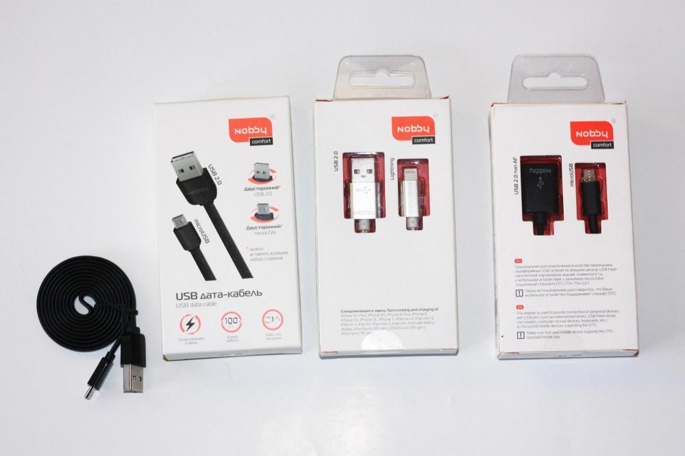 Универсальный кабель USB-MicroUSB от Nobby - вставляй любой стороной