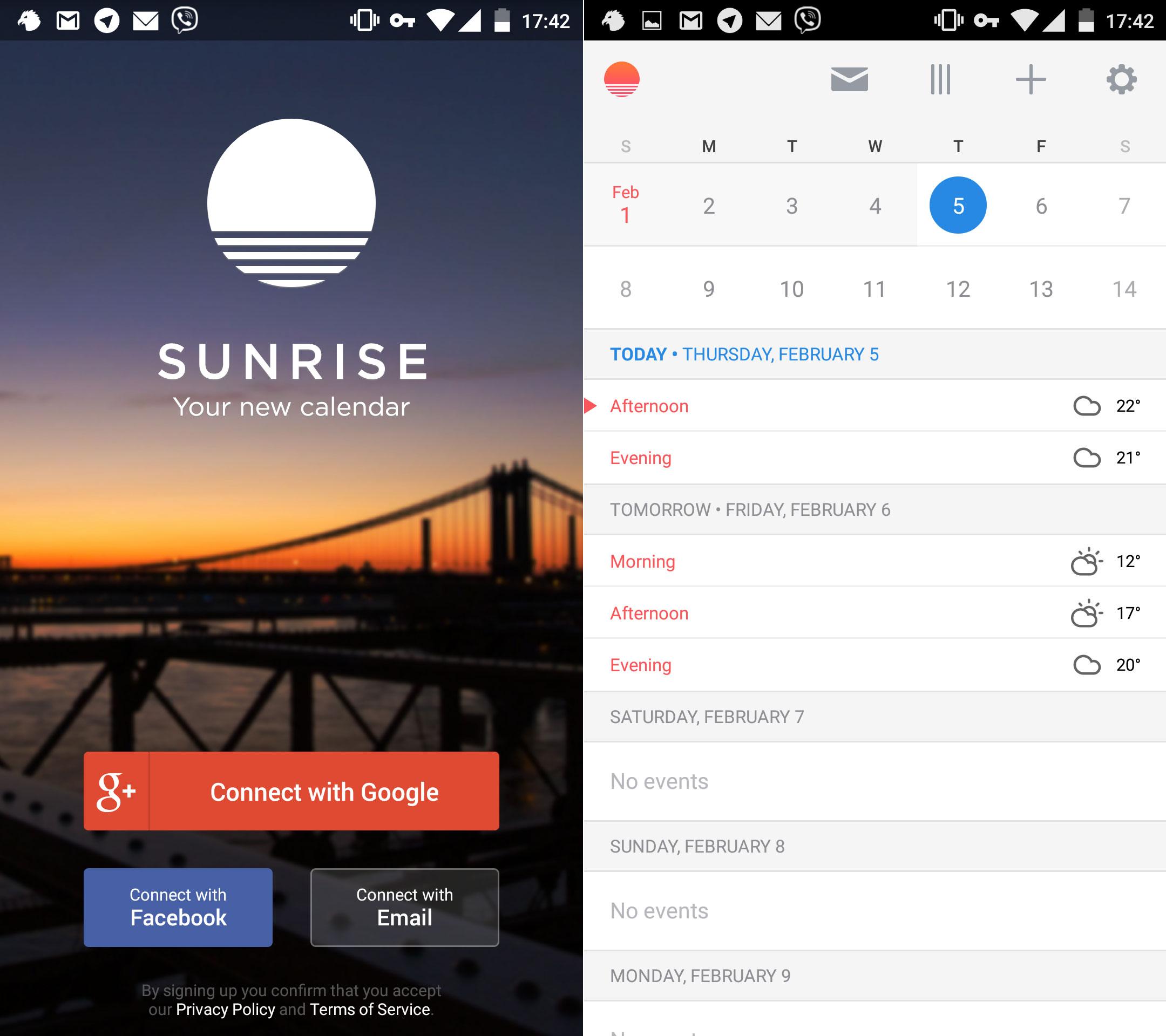Microsoft покупают календарь Sunrise за 100 миллионов долларов