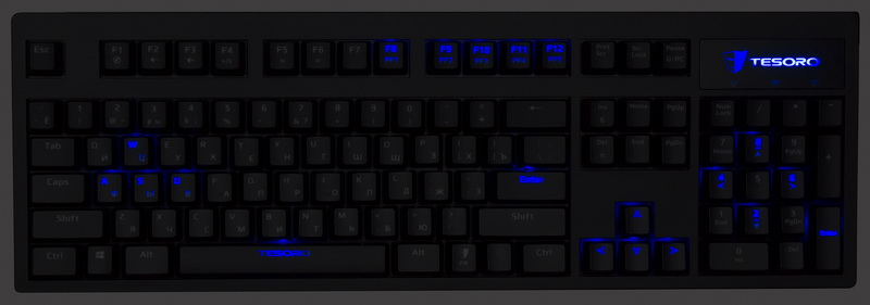 Обзор: клавиатура Tesoro Excalibur - меч во тьме