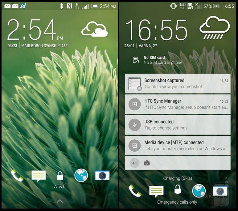 Экран блокировки HTC Sense 6.0 One M8