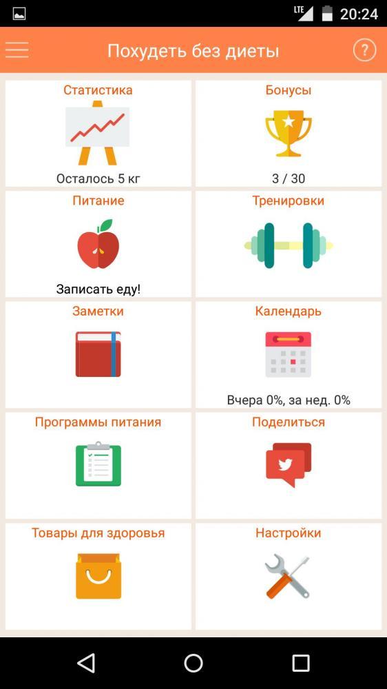Похудеть без диеты, но с подсказками телефона