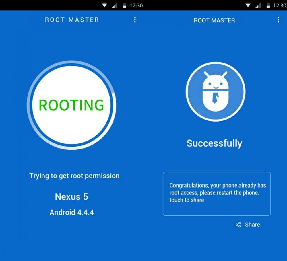 Ещё один метод быстрого получения root с помошью Root Master