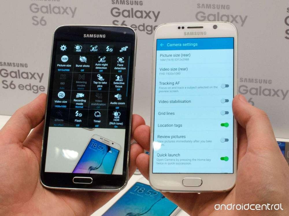 Материальное влияние в Samsung Galaxy S6