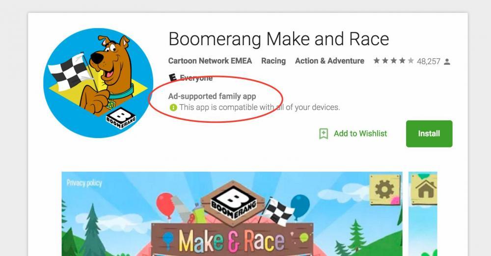 Google Play начнёт предупреждать о приложениях с рекламой