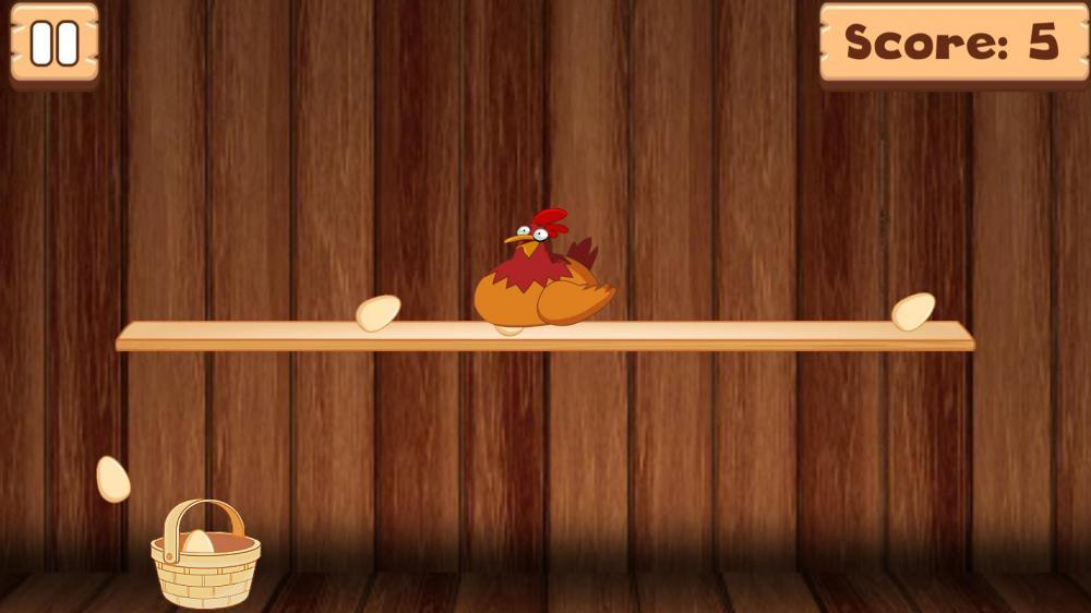 Chicken Madness: Catching Eggs - ни одно не уронить