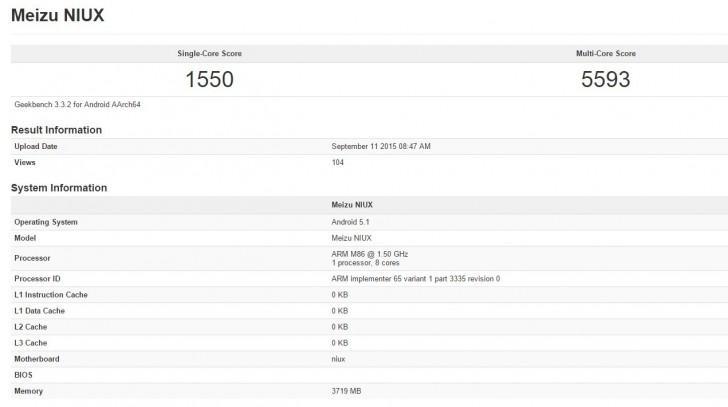 Meizu PRO 5 обгоняет Samsung Galaxy S7 в тесте Geekbench