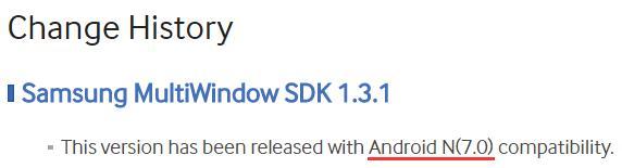 Samsung раскрыла версию Android N