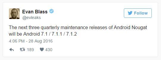 Android Nougat получит квартальные обновления 7.1, 7.1.1, 7.12