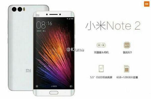 Xiaomi Mi Note 2. Busted!