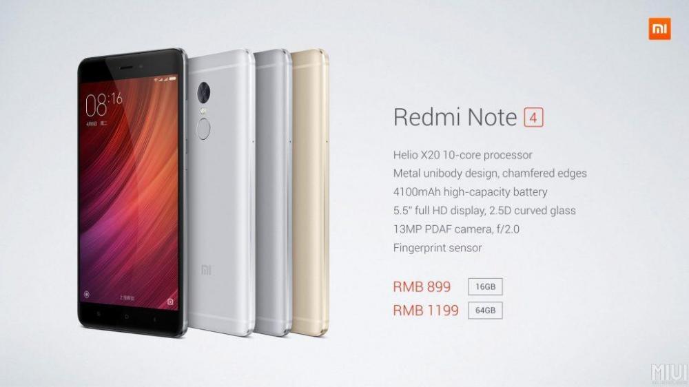 Xiaomi Redmi Note 4 - привлекательный середнячок