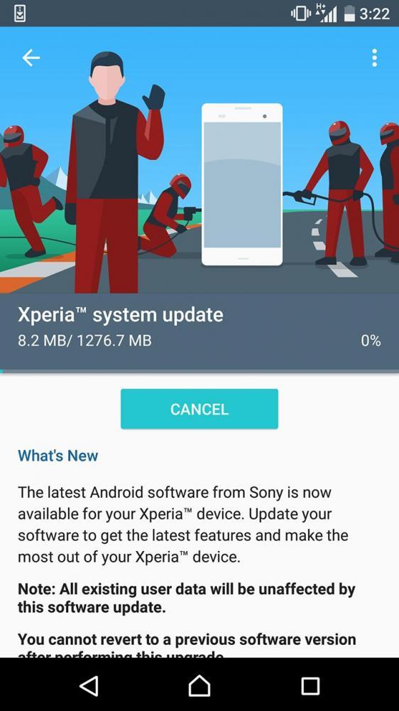 Обновления до Android Nougat для Sony Xperia X и Xperia X Compact