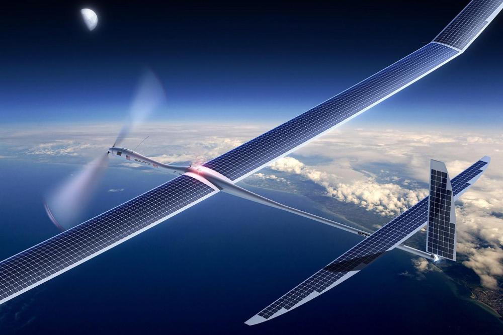 Google думает распространять 5G-интернет с помощью солнечных беспилотников