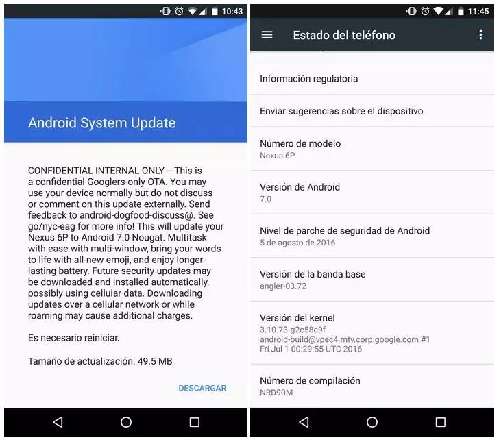 Android Nougat ждём уже в следующем месяце