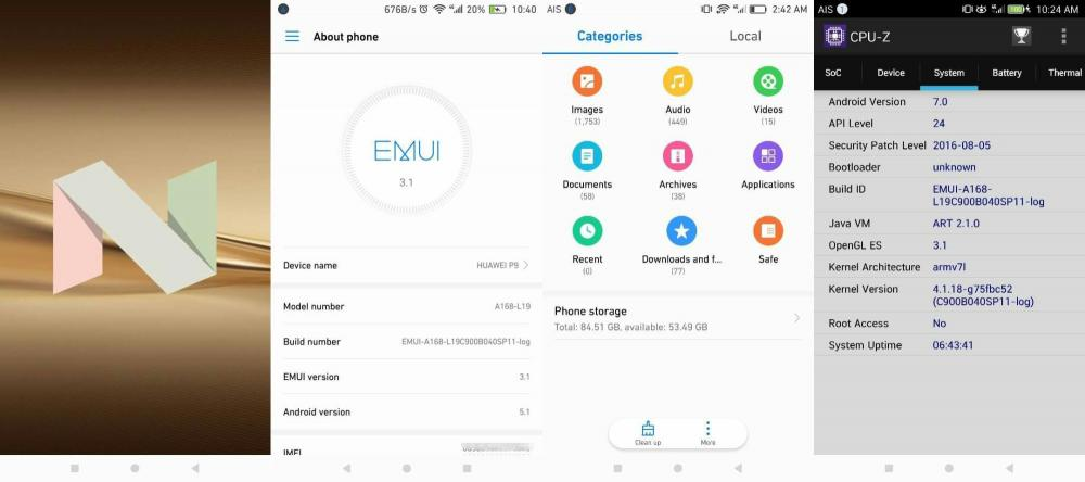 Бета-версия прошивки с Android Nougat доступна для Huawei P9