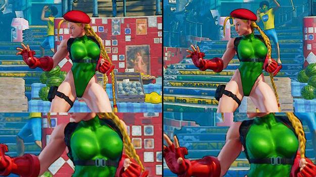 Женским персонажам в Street Fighter V сделали пластику груди