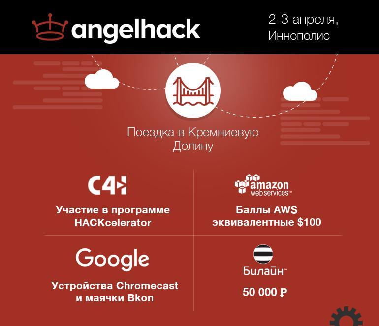 Крупнейший в мире хакатон AngelHack пройдет в регионах России!
