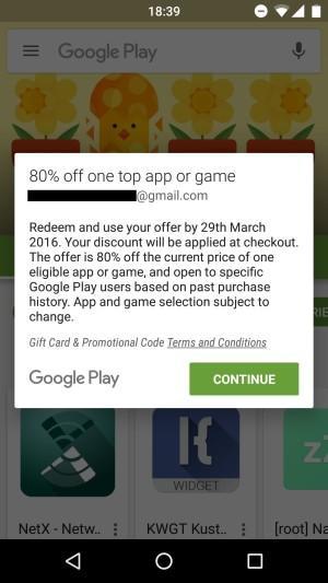 Некоторым пользователям Google Play даёт скидку 80%