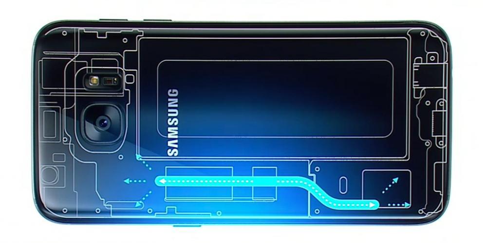 Система жидкого охлаждения Galaxy S7 без жидкости внутри