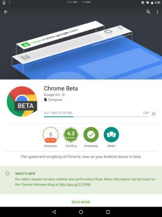 Google Play Store показывает информацию о количестве мегабайт апдейта