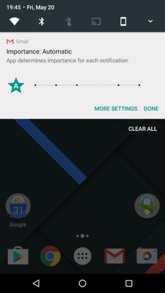 Градации важности уведомлений появятся в Android N