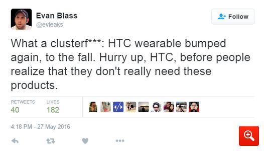 HTC снова перенесла даты выпуска умных часов