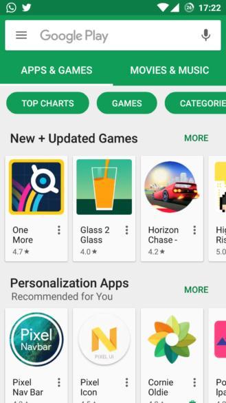 Google примеряет новый внешний вид на Play Store