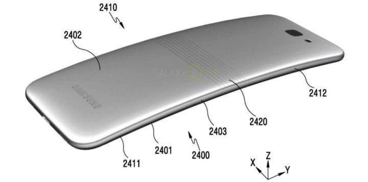 Рендеры сгибающегося смартфона Samsung