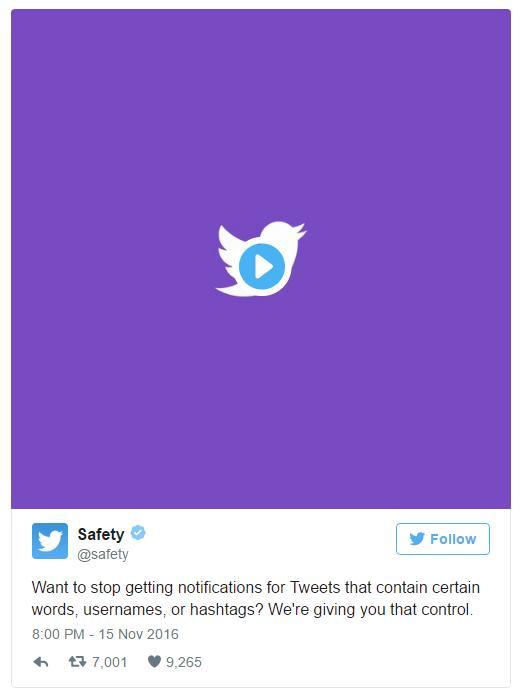 Twitter даёт возможность фильтрации уведомлений