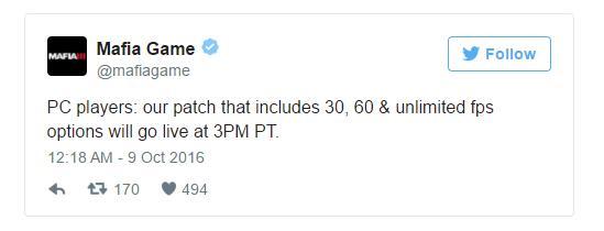 Патч для Mafia III снимает ограничения на fps