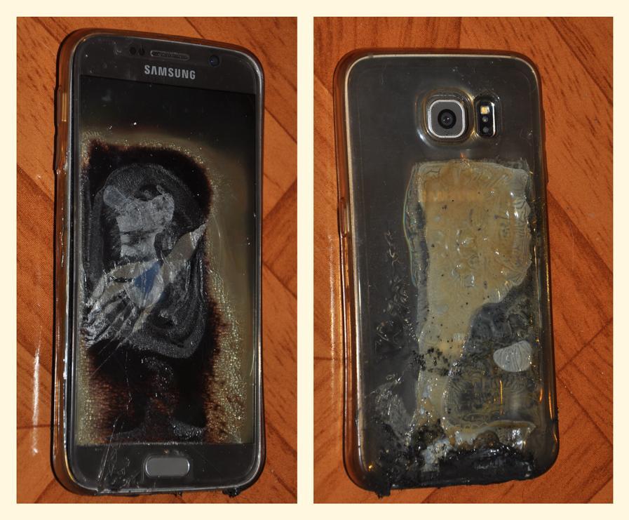 Samsung не везёт: снова оплавленный смартфон