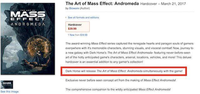 Согласно утечке, релиз Mass Effect: Andromeda ожидается 21 марта