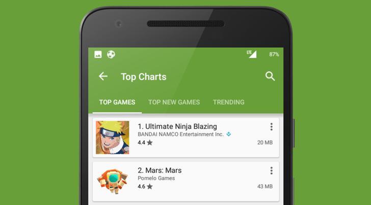 Google Play прибавил информативности - размеры везде