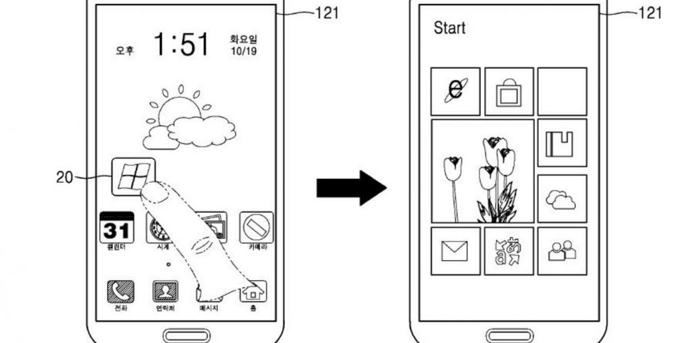 Samsung патентует двухсистемный смартфон