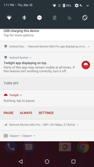 Android O не будет молчать об оверлейных приложениях