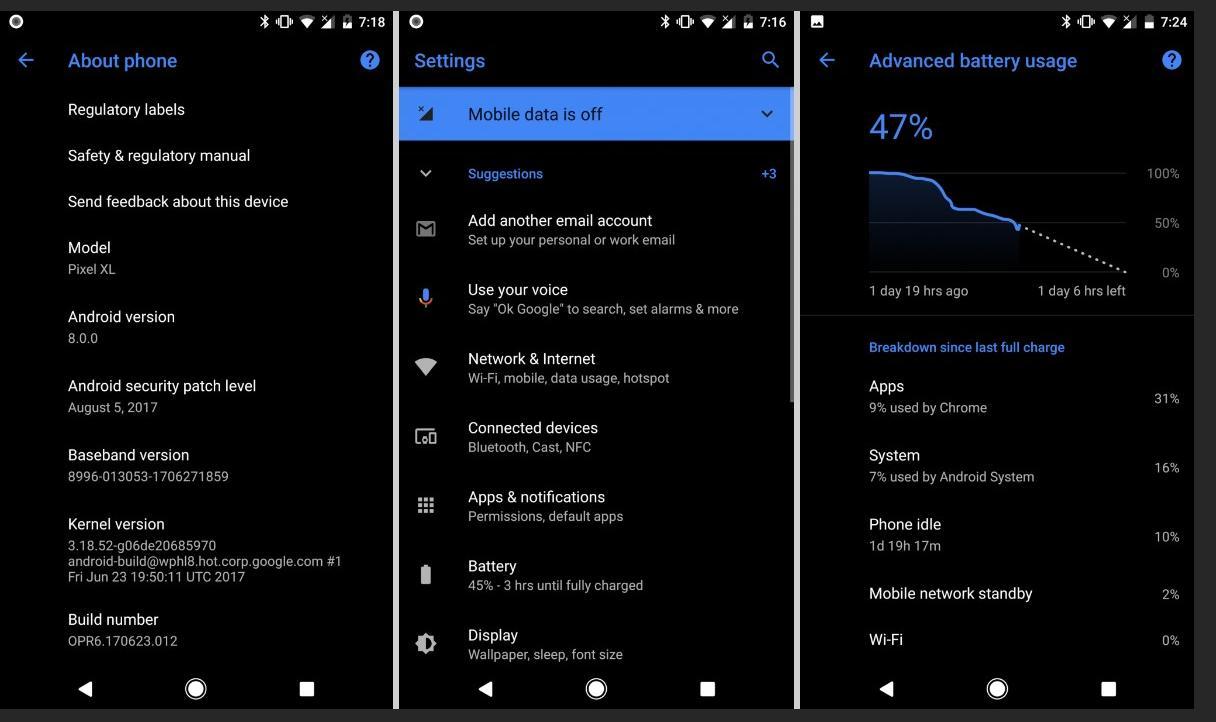 Android Oreo учится менять внешний вид, даже без root