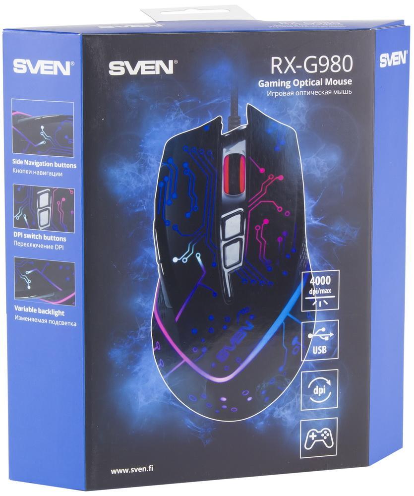 Для любых игр: обзор геймерской мыши SVEN RX-G980