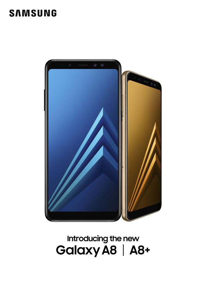 Две фронтальных и одна тыловая камера у Samsung Galaxy A8 и A8+