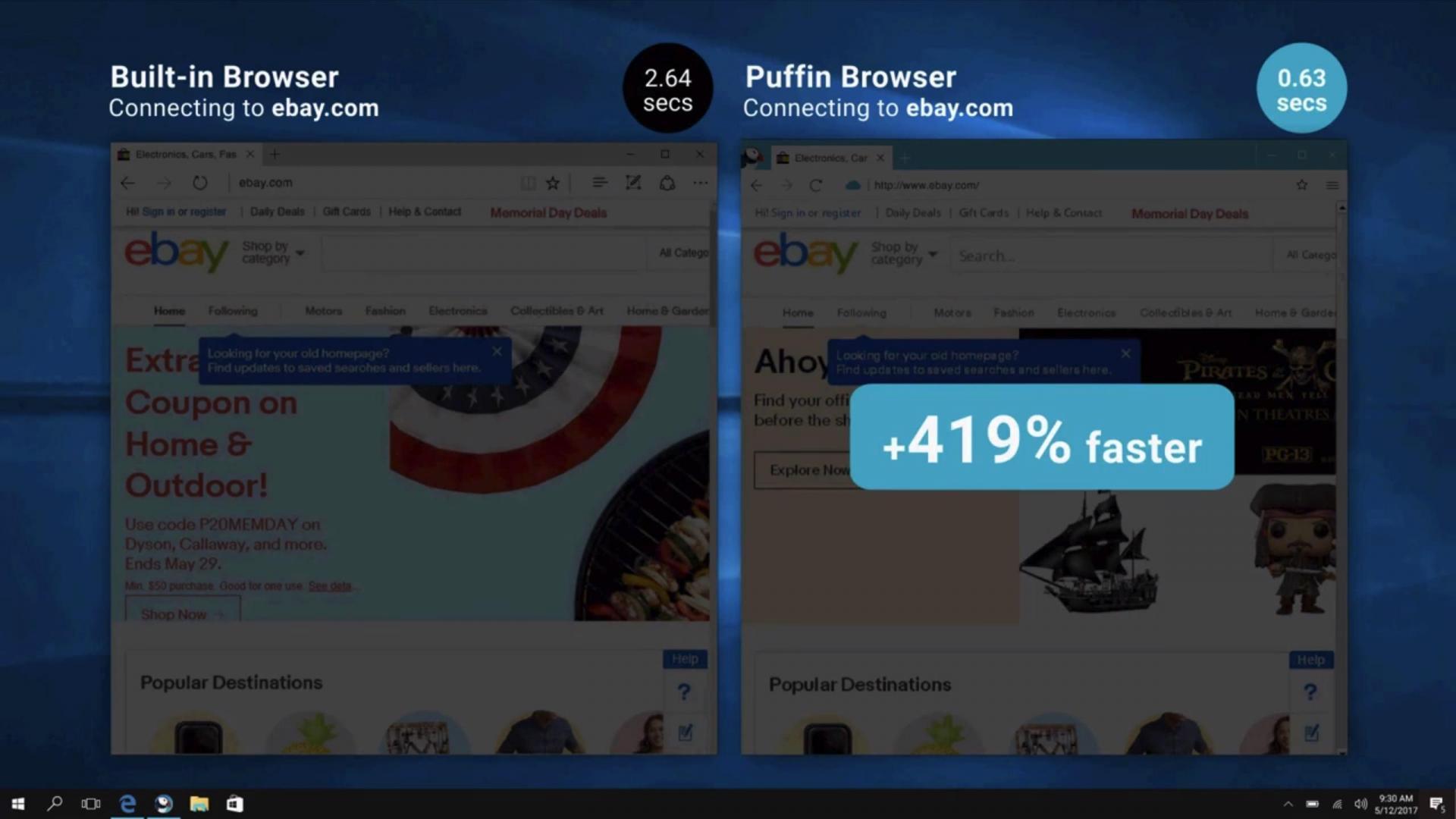 Вы пробовали браузер Puffin? Он часто работает на 419% быстрее вашего