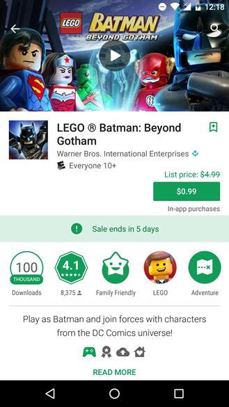 Google Play Store палит размер скидок на приложения
