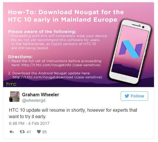 HTC снова раздаёт обновления для HTC 10