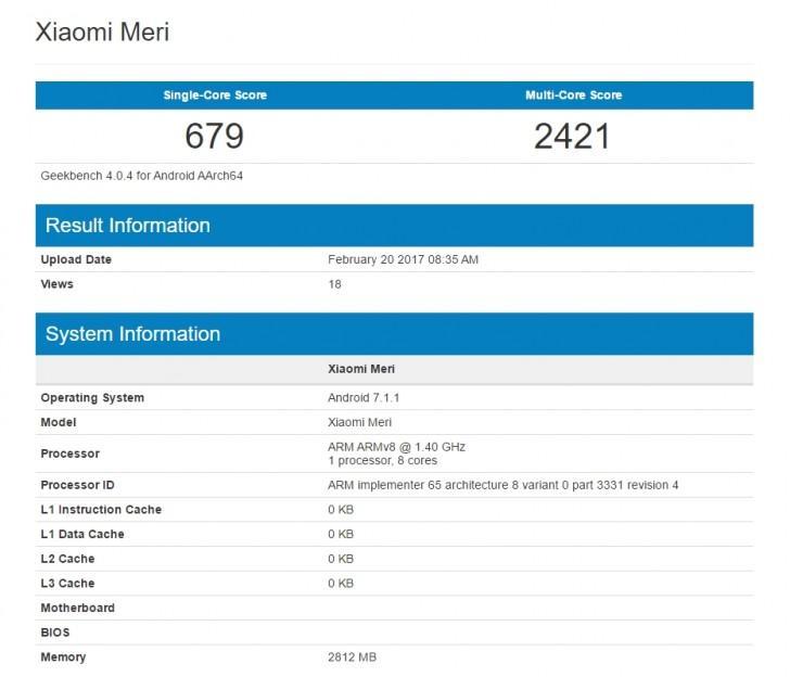 Xiaomi Mi 5c несколько раз в Geekbench, всегда по-разному