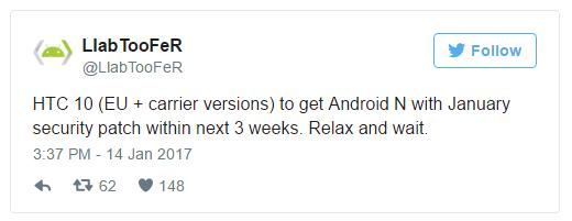 Обновление до Android Nougat для HTC 10 забуксовало, исправляют баги