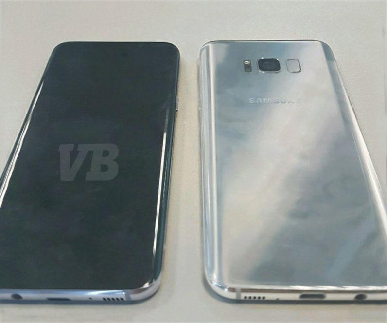 Samsung Galaxy S8 позирует на камеру, а также спецификации