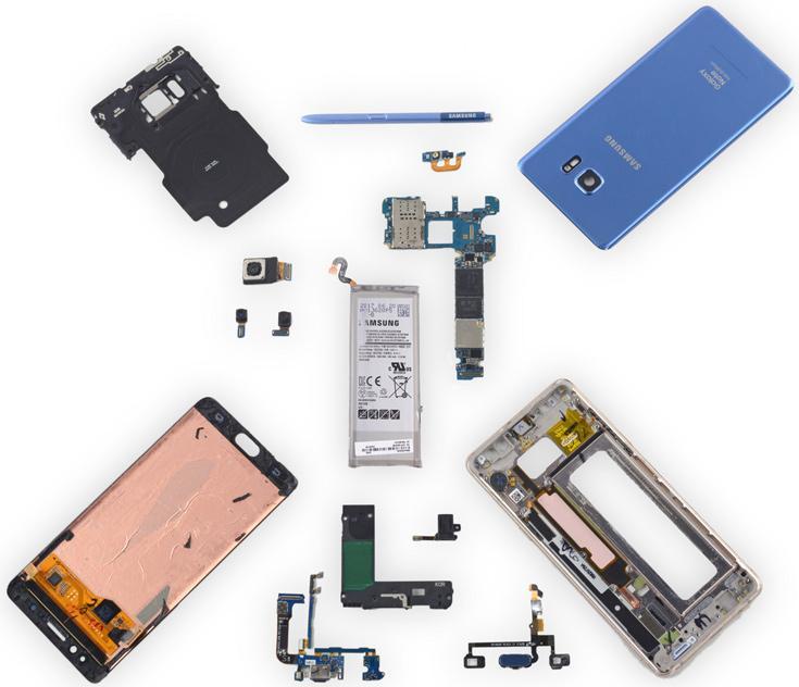 iFixIt разобрали Samsung Galaxy Note Fan Edition