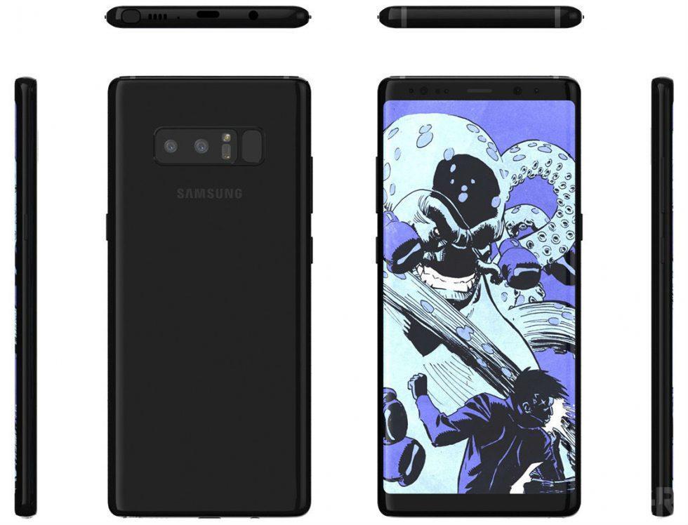 Samsung Galaxy Note 8 Будет выглядеть именно так