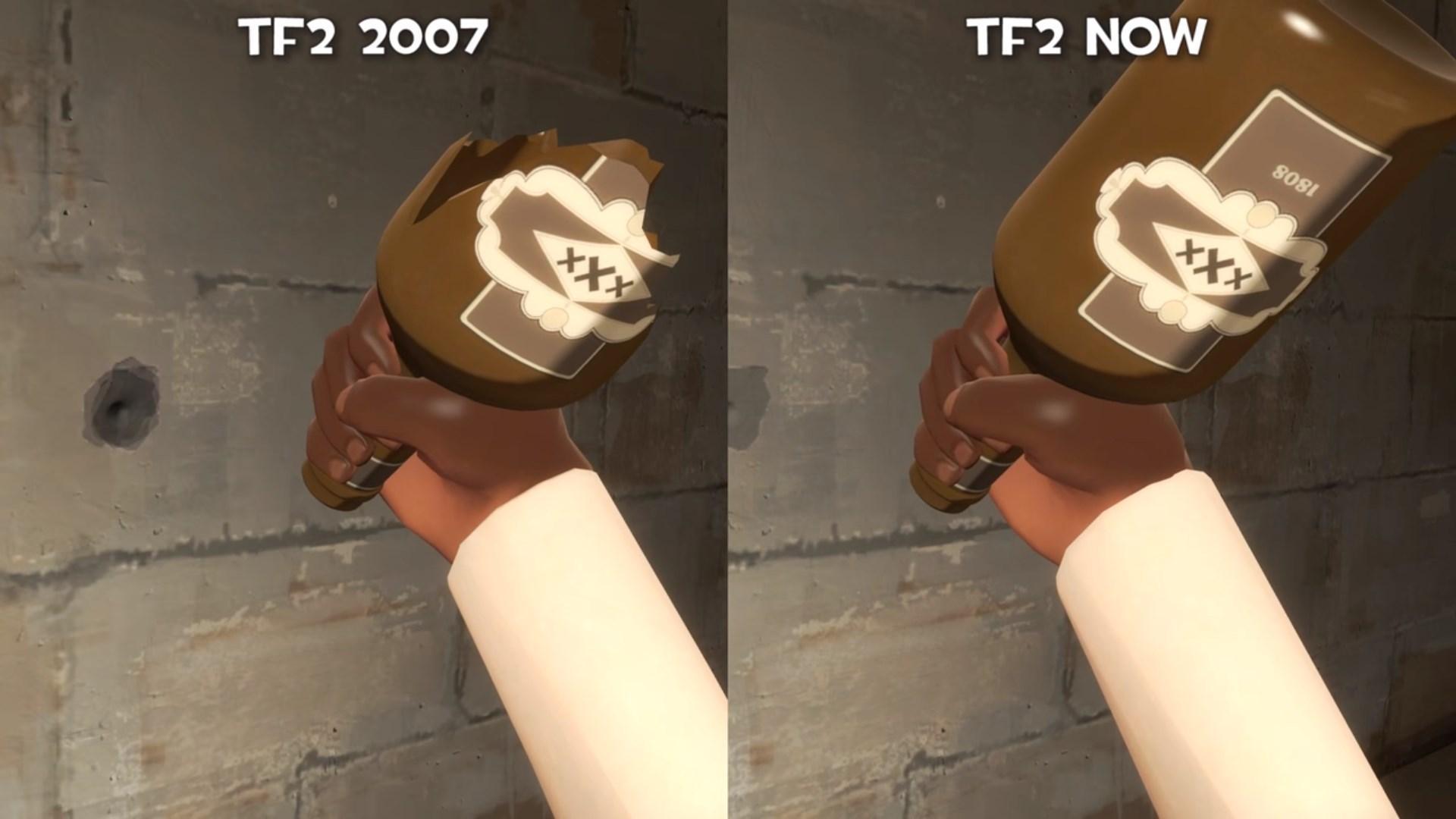 Графика в Team Fortress 2 деградирует
